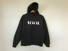 Retro TOOL Band Metal Hoodie Sweatshirt Wrench Logo Spellout Black Pullover XL