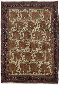 Muted Colors Floral Semi Antique 6'6X9'4 Oriental Area Rug Wool Decor Carpet