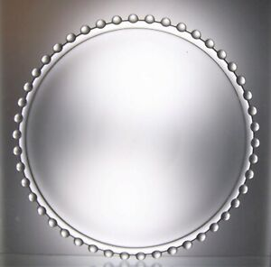Contemporary Afternoon Tea Glass Cake Plate with Beaded Edge - 28 cm