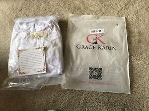 """Crinoline/ Slip White Tulle Women's """"Grace Karin"""" Size XL, New"""