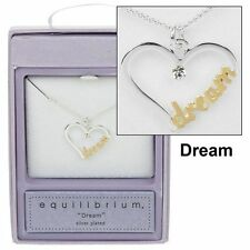 Equilibrium dream heart necklace silver plated jewellery gift boxed present