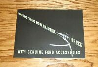 1937 Ford Car Accessories Sales Brochure 37