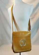 Ethiopian Handmade Tan   Leather Messenger  Bag