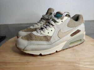 Nike Air Max 90 Premium Crepe Brown Mushroom Birch Hemp 308855-221 Size 7 EUC