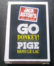 Jack Astor's Go Donkey! Pige Dans Le Lac Mini Playing Cards New