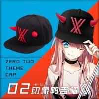 DARLING in the FRANXX Zero Two Baseball Cap Devil Hat Adjustable Cosplay