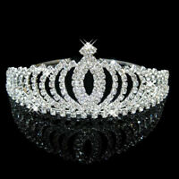 DAZZLING RHINESTONE BRIDAL PRINCESS WEDDING TIARA CROWN CLUB PROM JEWELRY CHEER