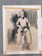 Original 1960s Graphite on Paper Drawing