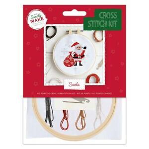 Docrafts Simply Make Santa Cross Stitch Kit DSM 106158