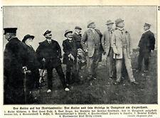 Nordlandreise des Deutschen Kaisers mit Gefolge in Vangsnes am Sognefjord c.1912