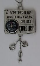 a Sometimes w.change we find direction LET LOVE BE YOUR GUIDE Compass Car Charm