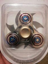 Captain America METALLIC Fidget Spinner- Handheld Toy chrome and red