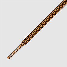 Football Shoelaces Mr Lacy Goalies Black/Orange Proffesional Hexagrip Technology