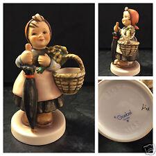 Hummelfigur Hummel Göbel 350 Zum Festtag Porzellan Porzellanfigur Mädchen Schirm