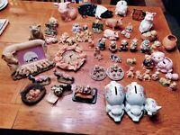 Leonardo Collection Pig Ornaments HUGE JOB LOT 50 BUNDLE figures clocks Vintage!