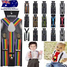 Children Kids Pattern Adjustable Elastic Suspenders Unisex Braces Boys Girls