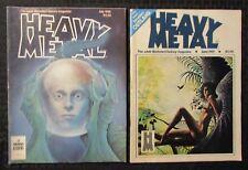 1980/81 HEAVY METAL Magazine LOT of 2 July FN- June VG/FN