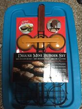 Burger Set Deluxe Mini Burgers Press Cutter And Basket