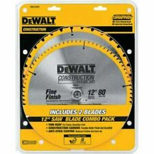 Dewalt 80 Tooth And 32T Atb Thin Kerf 12Inch Crosscutting Miter Saw Blade 2 Pack