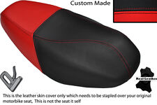 BLACK AND RED CUSTOM FITS SYM DD 50 DUAL LEATHER SEAT COVER ONLY