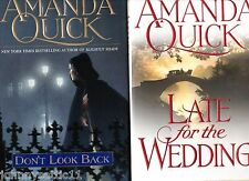 2 Amanda Quick HC/DJ Lot: Don't Look Back & Late For The Wedding HARDCOVERS