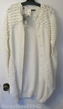 Alexander McQueen COCOON Knit Sweater Cape NWT Cream Color $2500 Medium