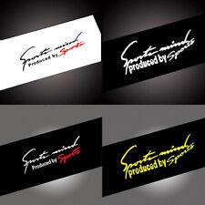Letra Logotipo Con Reflectante Deportes mente Calcomanía Vinilo Coche Pegatinas Etiqueta Engomada de la linterna