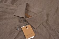 NWT Corneliani Size US 39 15.5 Dress Shirt in Brown Brand New Made in Italy
