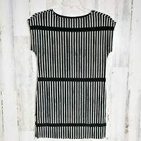 Women's Size XS Casual Dress Black White Stripes by Marimekko FLAW