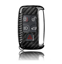 Real Carbon Fiber Keychain Key Fob Cover Shell Case for Land Rover Jaguar XE XF