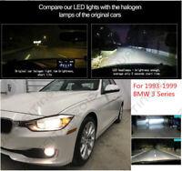 4X LED Headlight Bulbs High & Low Beam Combo Lamp Kit For 1993-1999 BMW 3 Series