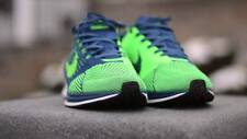 Nike flyknit racer blue green men's light weight trainer shoe uk 7.5 eu 42 bnob