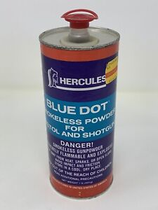 EMPTY CANISTER Vintage Advertising Can Tin HERCULES 2400 Smokeless RIFLE POWDER