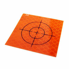Linestorm Orange Reflective Retro Targets (100 Pack) 50mm x 50mm | Prism Station