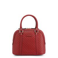 Gucci  Bag Women's Red Leather GG Guccissima Handbag Removable Shoulder Strap