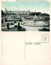 Elizabethtown Pa Masonic Homes Grand Lodge & Formal Gardens Antique Postcard