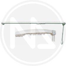 Scorritenda Scorri Tende Fisso Alluminio Con Curve Bianco cm 200