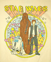 Psychedelic Star Wars R2D2 Chewy Hans Solo Peter Max Homage T-Shirt New Sz LG