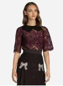 Dolce & Gabbana 'Cordonetto Lace' Top **BNWT** IT40-UK8