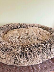 Cozee Paws Odourology Fluffy Round Pet Bed - Medium 3' Round