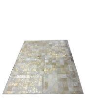 Patchwork-Teppich aus gefärbtem Kuhfell / cowhide rug - 150 cm x 200 cm