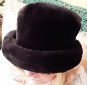 Ladies Black Faux Fur Hat