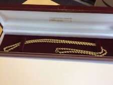 ROPE CHAIN NECKLACE 375 9CT GENUINE GOLD MENS LADIES 62 CM HALLMARKED 4MM DIA