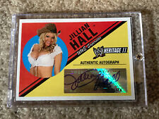 JULLIAN HALL WWE Diva TOPPS 2006 Heritage II Auto Authentic Autograph Card NMMT