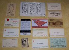 VTG SALESMAN BUSINESS CARD OLD PAPER ST. PAUL PONTIAC HILLBILLY JAMBOREE SNAP-ON
