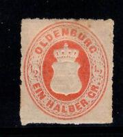 Oldenburg 1862 Mi. 16A Ungebraucht * 40% 1/2 Gr, das Wappen