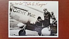 ACE FIGHTER PILOT WWII SIGNED PHOTO - 1st Lt. DALE E.KARGER - US 8th Air Force