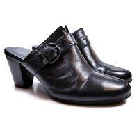 BOC Born Concept Womens Sz 9 Black Leather Studded Slip On Mule Clog BC3401