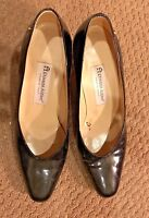 Etienne Aigner Taylor Pumps Patent Leather Upper Solid Black US 8 M Heels