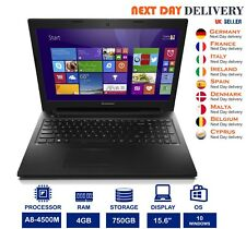 "Lenovo G505s 15.6"" Negro para Laptop AMD A8-4500M 1.9GHz 4GB Ram 750GB HDD Windows 10"